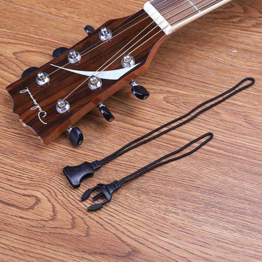 Support de sangle guitare noir