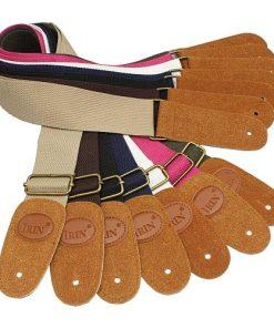 Sangle guitare classique nylon extrémités cuir divers coloris